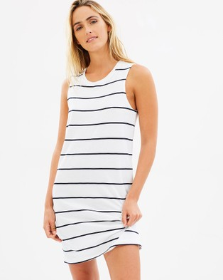 Elwood – Phillipa Dress Navy Stripe