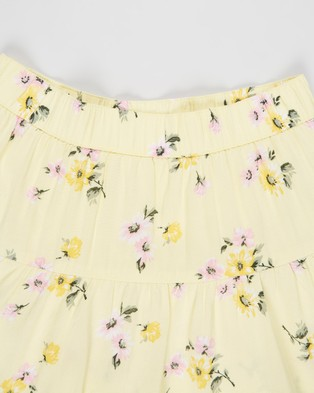 Abercrombie & Fitch Circle Skort   Teens - Skirts (Yellow Grounded Floral)