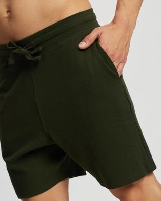 Marks & Spencer Waffle Shorts - Sleepwear (Khaki)