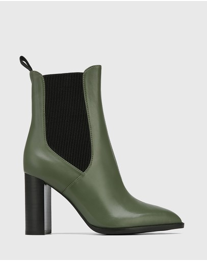 Wittner - Holler Leather Block Heel Ankle Boots