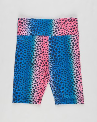 Flo Active Isabella High Waist Bike Shorts   Teens - Shorts (Ombre Leopard)