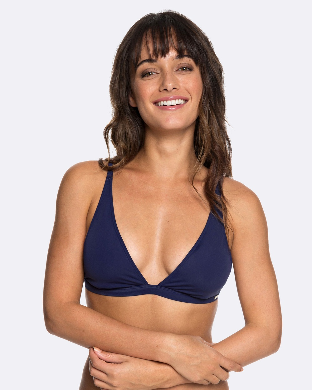 Roxy Womens Beach Basic Elongated Tri Separate Bikini Top Bikini Tops MEDIEVAL BLUE Womens Beach Basic Elongated Tri Separate Bikini Top