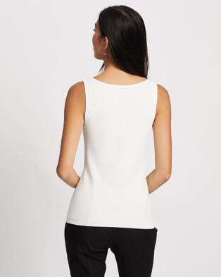 ARIS Curve Bust Knit Singlet - Tops (White)