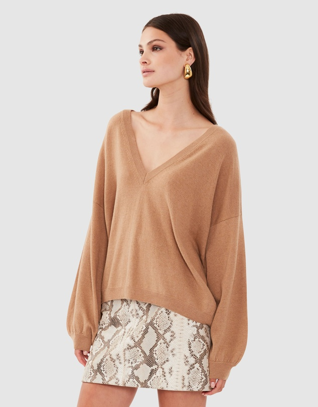 Women Everyday V Neck Knit
