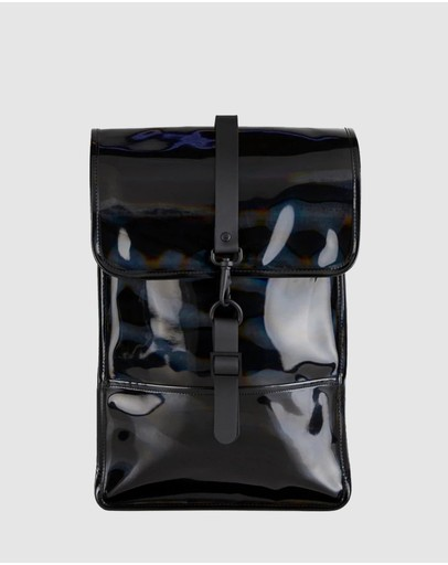 Rains Backpack Mini Holographic Black