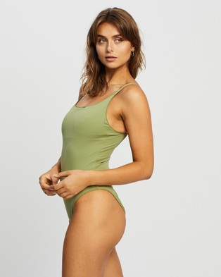 IT'S NOW COOL The Contour One Piece - One-Piece / Swimsuit (Olive)