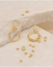 By Charlotte - Charmed Gold Hoop Earrings