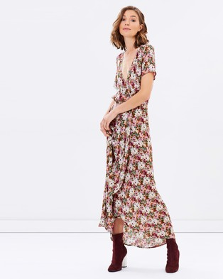 Auguste – Wild Rose Maxi Wrap Dress Dusty Rose