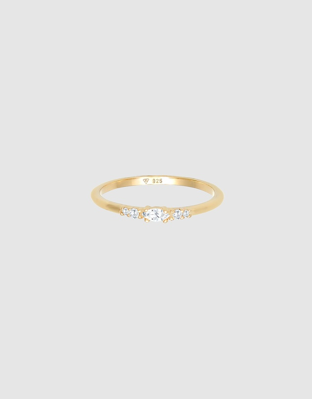Women Ring Marquise Elegant with Cubic Zirconia in 925 Sterling Silver Gold Plated