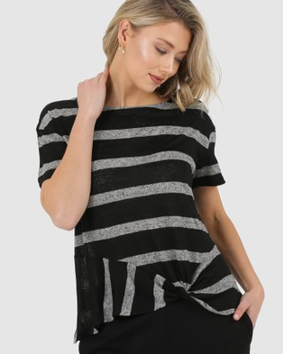 Privilege Knotted Tee - Tops (Black)