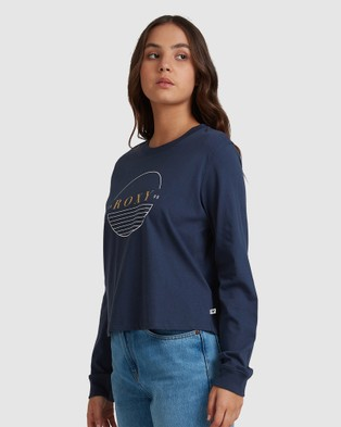 Roxy - Womens Epic Afternoon Long Sleeve T Shirt - Long Sleeve T-Shirts (MOOD INDIGO) Womens Epic Afternoon Long Sleeve T-Shirt