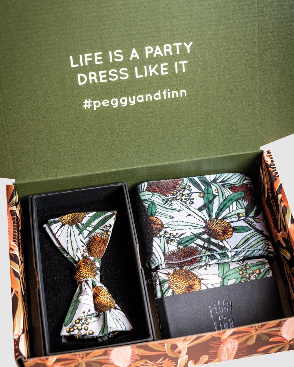 Peggy and Finn Banksia Bow Tie Gift Box Ties & Cufflinks Grey Australia