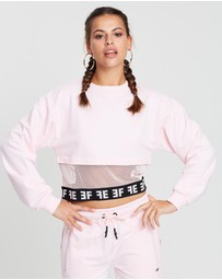 First Ever - Spliced Cropped Sweater