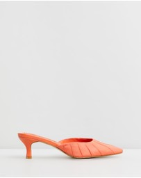 Jaggar The Label - Ruched Kitten Heels