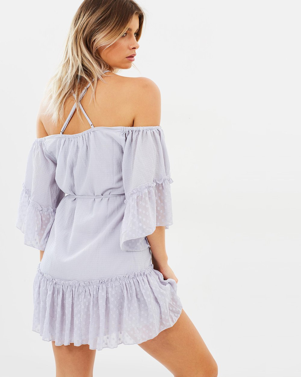 f54750327e The Great Escape Off-Shoulder Mini Dress by Suboo Online | THE ICONIC |  Australia
