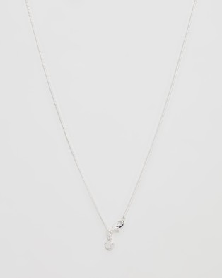 Chained & Able Padlock Pendant Necklace - Jewellery (Silver)