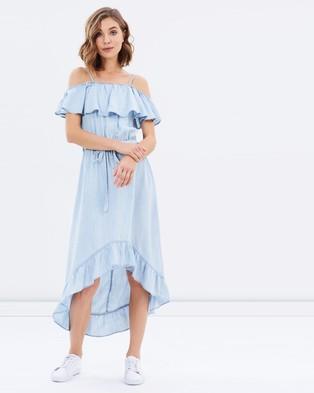 Sass – Starstruck Chambray Dress – Dresses (Chambray Star Print)