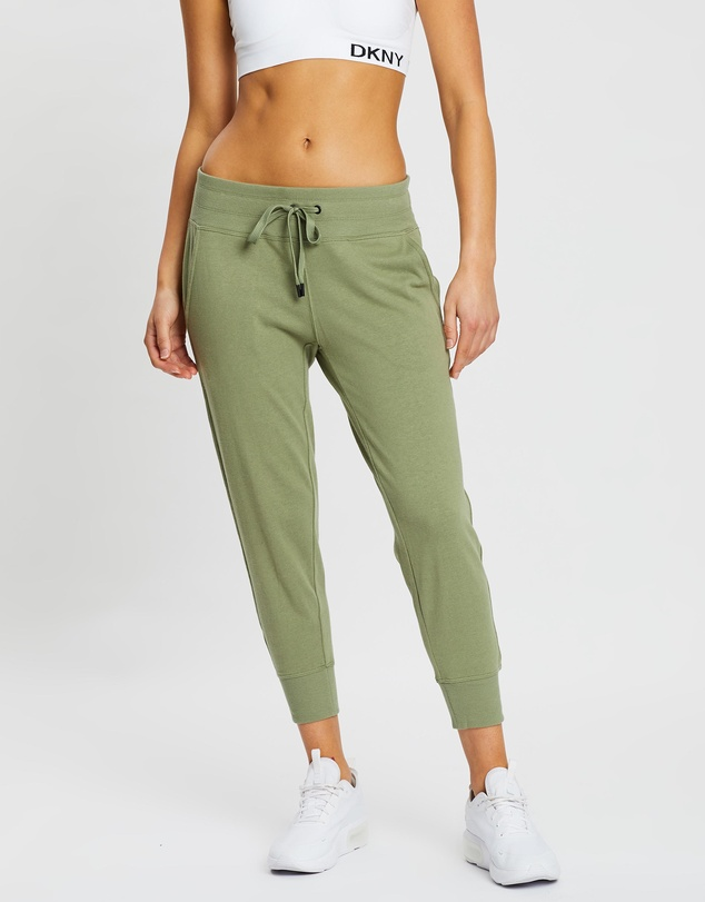 DKNY - Cropped Joggers With Striped Logo