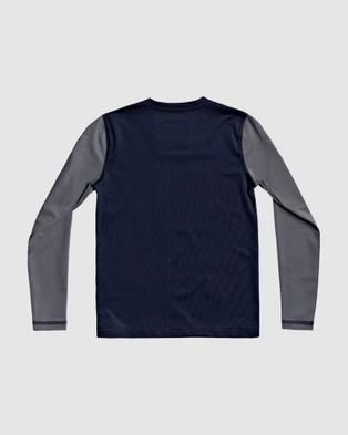 Quiksilver Boys 2 7 Heats On Long Sleeve UPF 50 Rash Vest - Swimwear (IRON GATE)