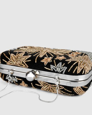 From St Xavier Night Sky Box Clutch Black - Clutches (Black)