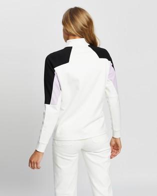 Lacoste L!Ve Feminine Bi Face Jersey Sweatshirt - Sweats (White)