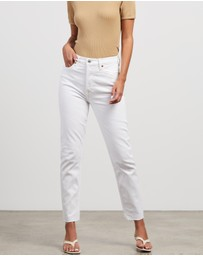 RE/DONE - High Rise Ankle Crop Jeans