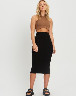 ST MRLO Laguna Knit Skirt - Skirts (Black)