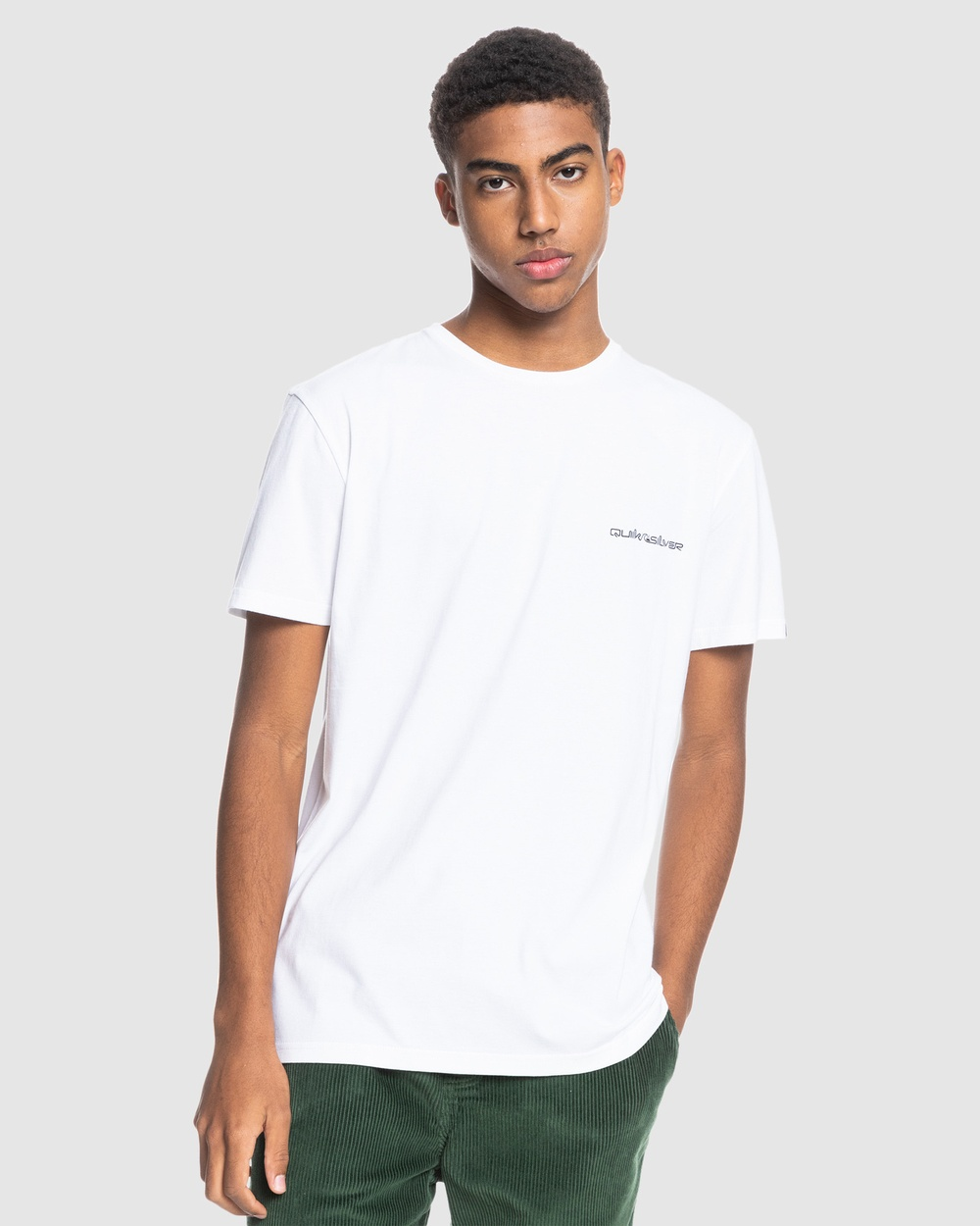 Quiksilver - Mens Secret Set T Shirt - T-Shirts & Singlets (White) Mens Secret Set T-Shirt