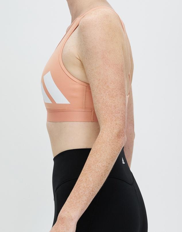 Women Believe This Medium Support Workout Logo Bra