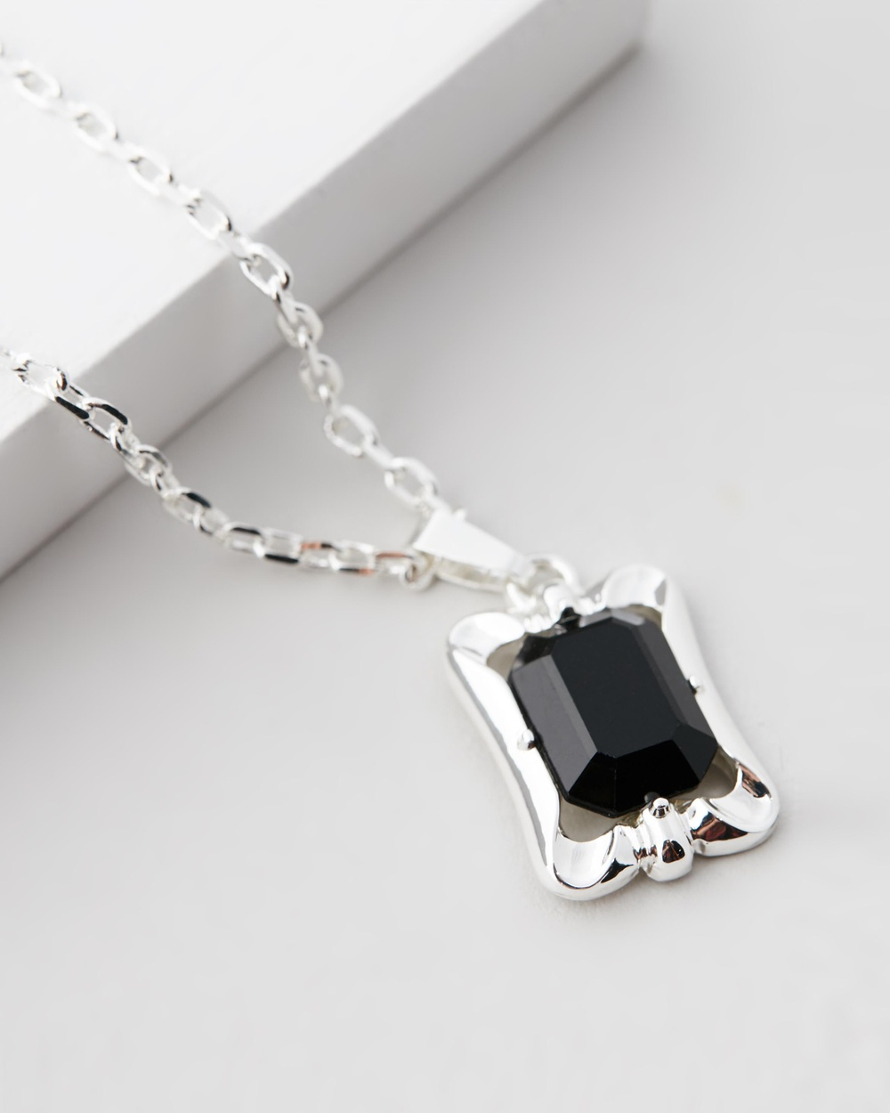 Chained & Able Stone Tag Pendant Necklace Jewellery Silver Australia