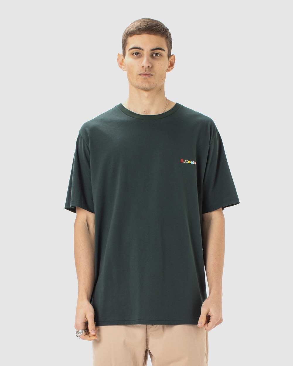 Barney Cools B.Cools Embro Tee Long Sleeve T-Shirts Forest Australia
