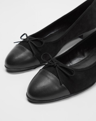 Atmos&Here - Angelina Leather Ballet Flats (Black)