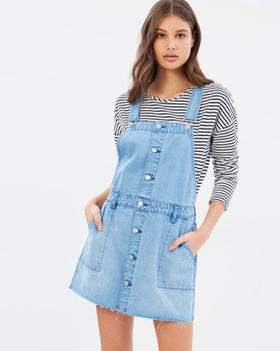 Riders by Lee – Utility Dungaree Dress Blue Clique