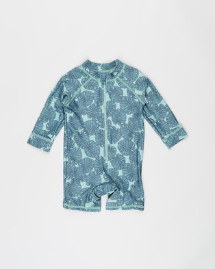 Cotton On Baby Cameron Long Sleeve Swimsuit   Babies - Rash Suits (Smashed Avo & Tropical Leaves)