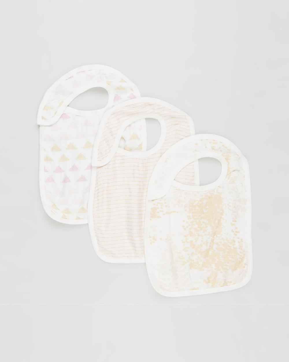 Aden & Anais Silky Soft 3 Pack Snap Bibs Metallic Primrose 3-Pack