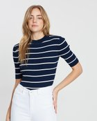 Stripe Rib Knit Top