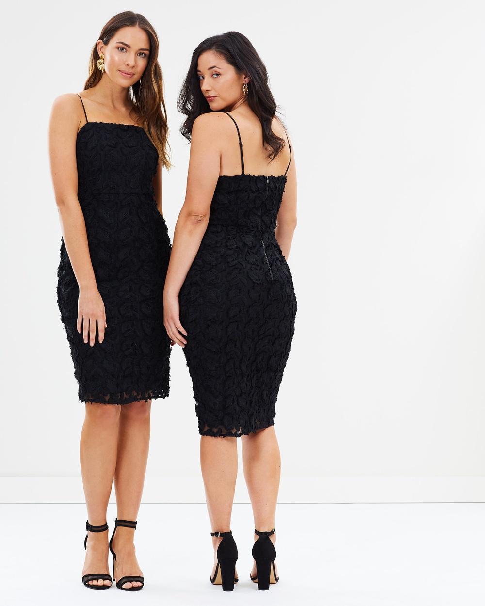 Cooper St Floral Mirage Lace Midi Dress Bodycon Dresses Black Floral Mirage Lace Midi Dress