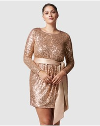 Forever New Curve - Tessa Curve Sequin Mini Dress