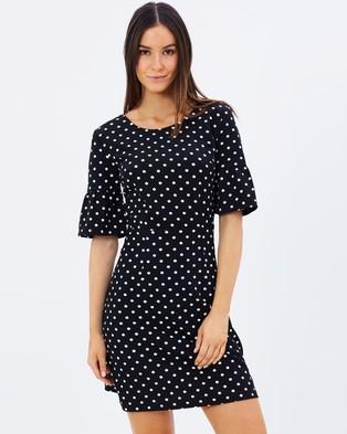 Atmos & Here – Spots Midi Sleeve Dress – Dresses (Polka Dot)