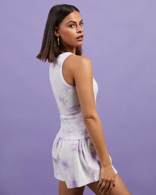 Dazie - Turn Back Tie Dye Tank T-Shirts & Singlets (Lilac Dye)