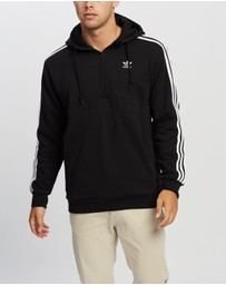 adidas Originals - 3-Stripes Half-Zip Hoodie