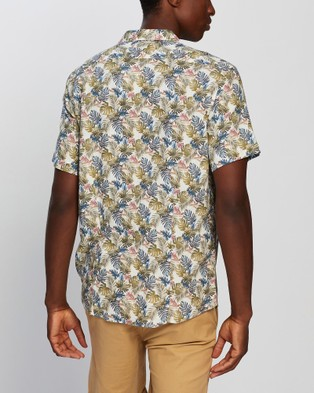 Marcs Sal Short Sleeve Shirt - Casual shirts (White & Khaki )