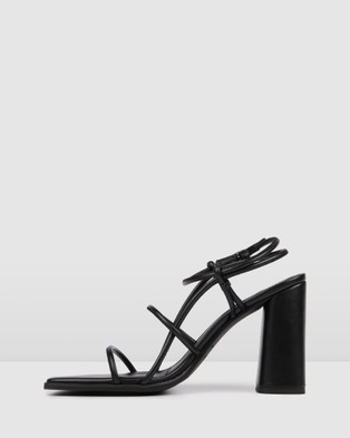 Jo Mercer Addison High Heel Sandals - Sandals (Black)