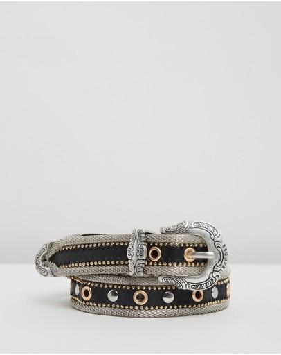 Topshop Chain Belt Black