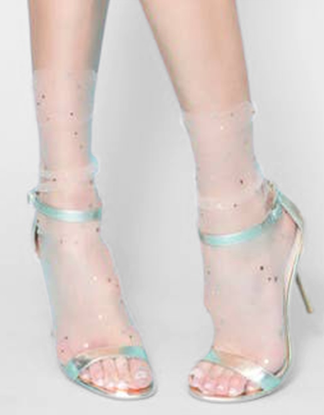 Women Starry Sky Tulle Socks