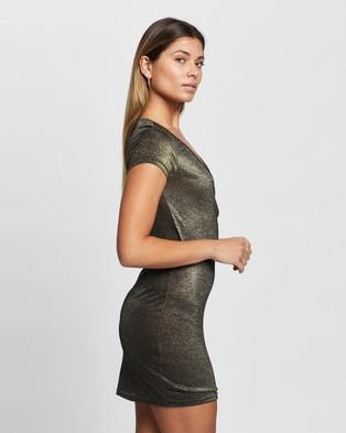 Atmos&Here Viola Mini Dress - Bodycon Dresses (Gold)