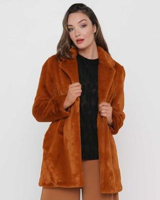 Faye Black Label Unreal Faux Fur Coat - Coats & Jackets (Autumn Glory)