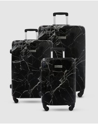 JETT BLACK - Black Marble Series Luggage Set