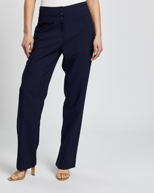 Review Estelle Pants - Pants (Navy)