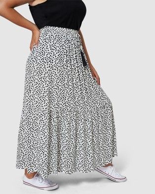 Sunday In The City Pretty Vacant Maxi Skirt - Skirts (WHITE)